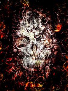 DarkArt; Skull; Grung;: Texture