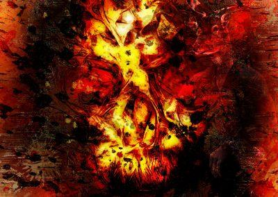 DarkArt; Skull; Grunge; Texture; Glowing