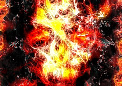 DarkArt; Skull; Grunge; Glowing