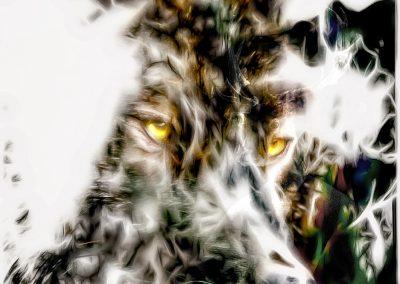 Image Editing; Wolf; Schwellenwert; Smudge