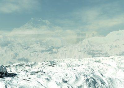 Landscape; Mountains; Winter; Snow; Clouds; Mist; Haze