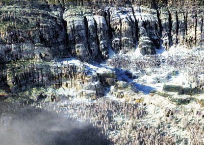 Landscape; Mountains; Mesas; Winter; Snow; Clouds