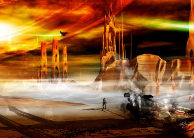 Space; Sci-Fi; City; Spaceship; Wreck