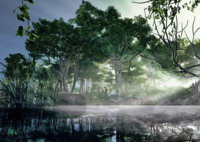 Landscape; Ponds; Water; Sunrise; Godrays; Atmosphere