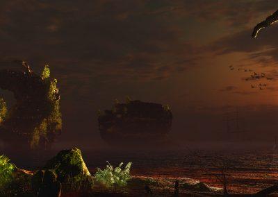 Landscape; Island; Sea; Water; Sundown; Atmosphere