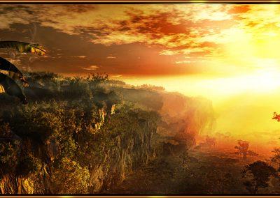 Landscape; Jungle; Sundown; Atmosphere