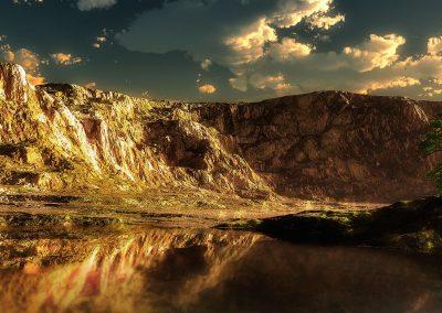 Landscape; Mountains; Sea; Water; Reflections; Sundown; Atmosphere