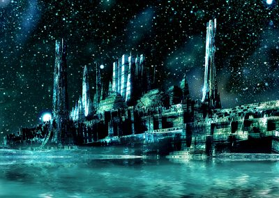 Space; Sci-Fi; City; Stars