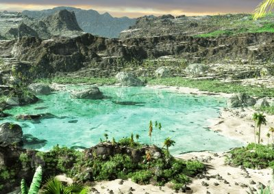 Seascape; Landscape; Bay; Water; Sea; Island; Mountains; Haze; Mist