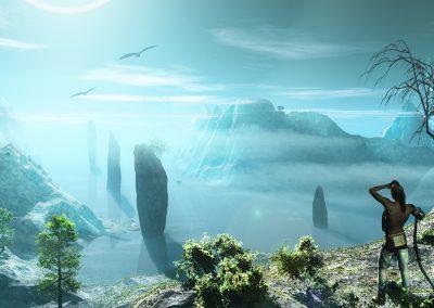 Seascape; Landscape; Bay; Water; Sea; Indian; Frontlight; Haze; Mist