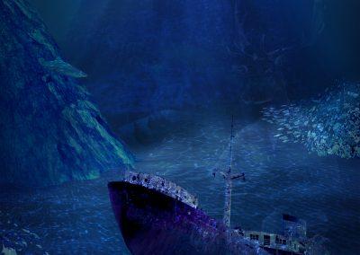 Composing; Underwater; Shipwreck; Caustics