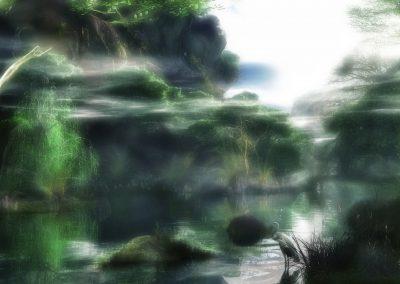 Landscape; River; Water; Soft Light; Haze; Mist; Dust