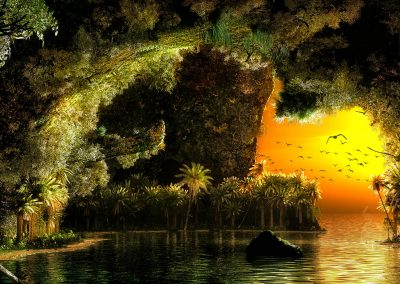 Seascape; Landscape; Bay; Water; Sea; Island; Cave; Evening Atmosphere