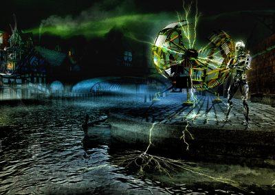 Space; Sci-Fi; Time Machine; DarkArt; Cyborg; Haven; Water; Night