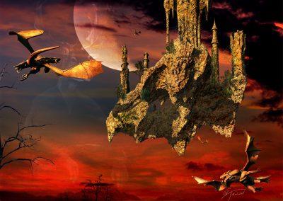Fantasy; Dragons; Flight; Flying Rock