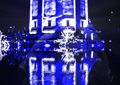 Image Editing; Watertower; Blue Light; Reflection