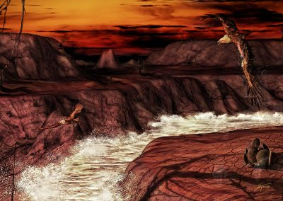 Landscape; Canyon; River; Rapids; Whitewater; Eagles