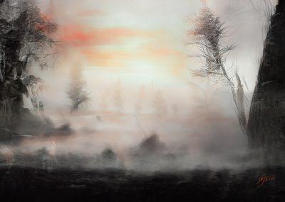 Landscape; DarkArt; Winter; Field; Trees