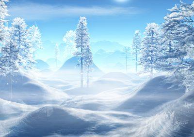 Landscape; Trees; Winter; Blue Sky; Snow; Ice; Cold