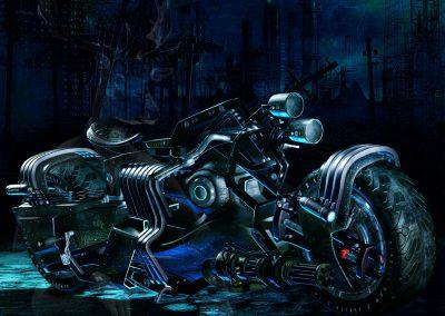 Fantasy; Surreal; DarkArt; Motorbike