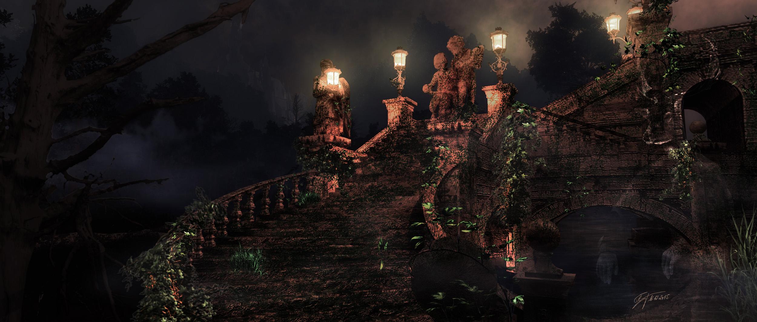MWD 69; Contest; Bridge; Statue; Night; Light;
