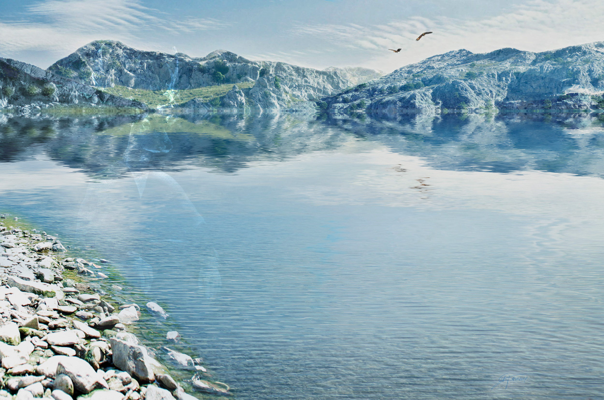 MWD 48; Contest; Sea; Tegernsee; Reflection; Springtime Sky; Mountains