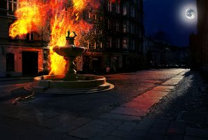 MWD 4; Contest; DarkArt; Street; Night; Fire