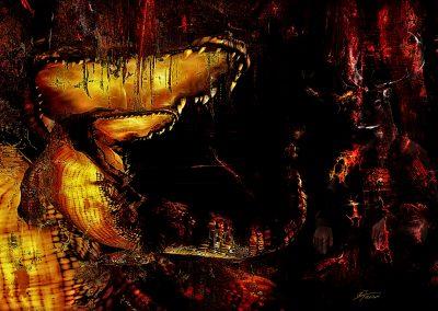 Surreal; Abstarct; DarkArt; Alligator; Grunge