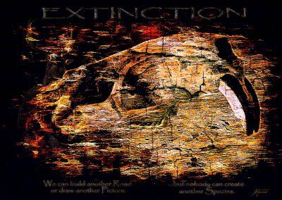 DarkArt; Beaver; Grunge; Skull; Cracks; Texture; Extiction