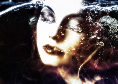 Character; Face; Woman; Underwater; Underwater Air, Caustics
