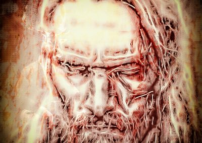Character; DarkArt; Face; Viking; Grunge; Canvas